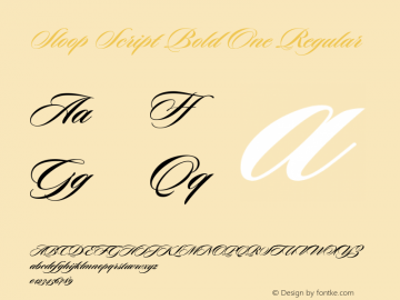 Sloop Script Bold One Regular Macromedia Fontographer 4.1 16.05.2003图片样张