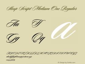 Sloop Script Medium One Regular Macromedia Fontographer 4.1 16.05.2003图片样张