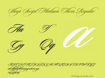 Sloop Script Medium Three Regular Macromedia Fontographer 4.1 16.05.2003图片样张