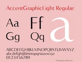 AccentGraphicLight Regular 001.000图片样张