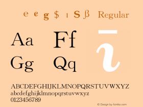 华光英文符号库二 Regular V4.0图片样张