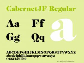 CabernetJF Regular Macromedia Fontographer 4.1.4 6/13/03图片样张