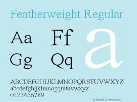 Featherweight Regular Featherweight V.1图片样张