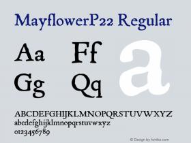 MayflowerP22 Regular Version 1.0; 2003; initial release图片样张