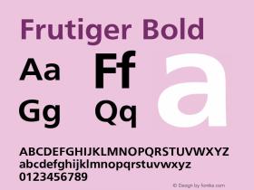 Frutiger Bold Converter: Windows Type 1 Installer V1.0d.