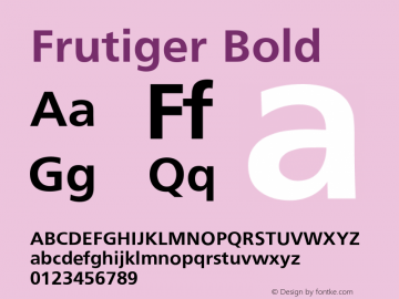 Frutiger Bold Converter: Windows Type 1 Installer V1.0d.