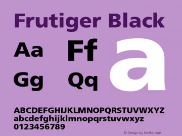 Frutiger Black Version 001.001 Font Sample