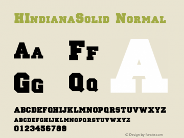 HIndianaSolid Normal 1.0 Fri Oct 30 19:50:58 1992 Font Sample