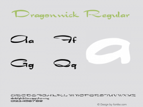 Dragonwick Regular Converted from C:\WIN\SYSTEM\ST000206.TF1 by ALLTYPE Font Sample