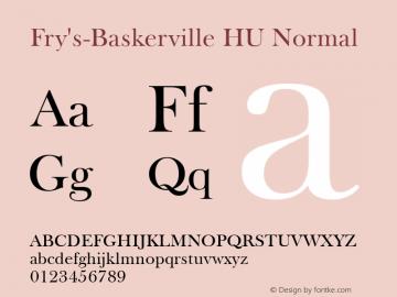 Fry's-Baskerville HU Normal 1.000图片样张