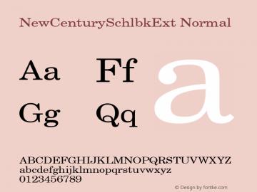 NewCenturySchlbkExt Normal 001.000 Font Sample