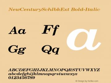 NewCenturySchlbkExt Bold-Italic 001.000 Font Sample