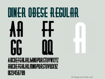 Diner Obese Regular Altsys Metamorphosis:7/10/92 Font Sample