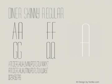 Diner Skinny Regular Altsys Metamorphosis:7/10/92 Font Sample