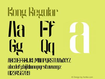 Kong Regular Version 1.982;PS 001.982;hotconv 1.0.70;makeotf.lib2.5.58329图片样张