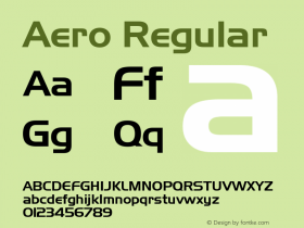 Aero Regular Rev. 002.02 Font Sample