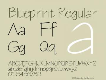 Blueprint Regular Rev. 003.000 Font Sample