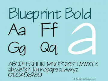 Blueprint Bold Rev. 003.000 Font Sample