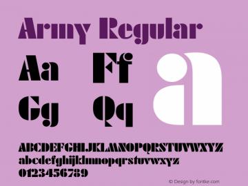 Army Regular Rev. 002.001 Font Sample