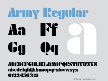 Army Regular Rev. 002.002 Font Sample