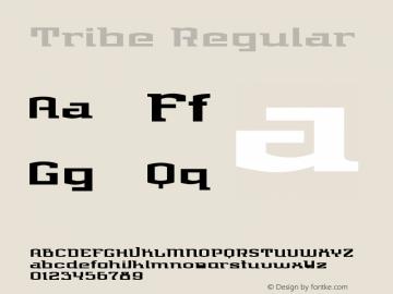 Tribe Regular Version 1.00图片样张