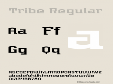 Tribe Regular Version 1.00 Font Sample