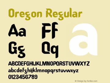 Oregon Regular -------------- d:\aff10\OREGON.FF1 ----------图片样张