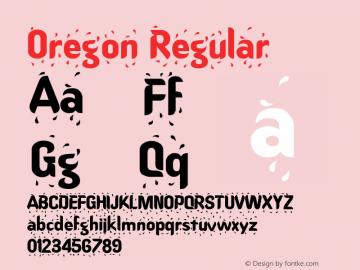Oregon Regular Altsys Fontographer 3.5  8/18/92图片样张