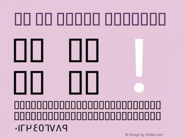 GE SS Three Regular Version 1.100;PS 001.001;hotconv 1.0.38 Font Sample