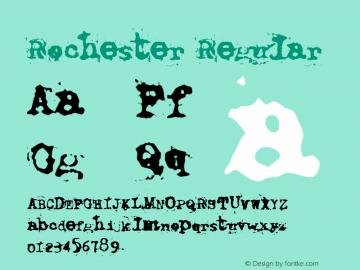 Rochester Regular Macromedia Fontographer 4.1.2 8/17/02 Font Sample