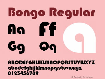 Bongo Regular Rev. 002.001 Font Sample