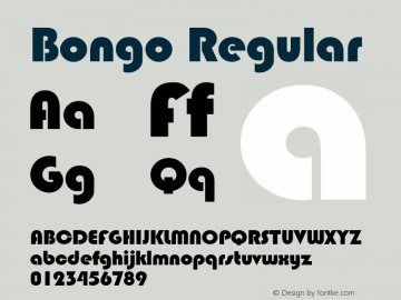 Bongo Regular Rev. 002.002 Font Sample