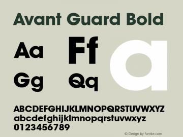Avant Guard Bold Rev. 002.02 Font Sample