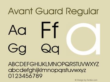 Avant Guard Regular Rev. 002.001 Font Sample