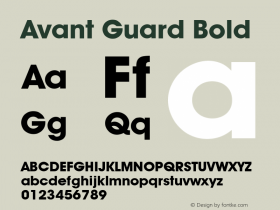 Avant Guard Bold Rev. 002.001图片样张
