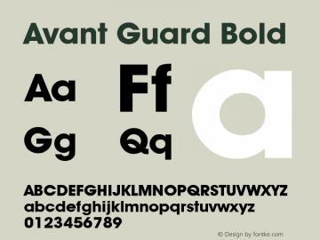 Avant Guard Bold Rev. 002.001 Font Sample