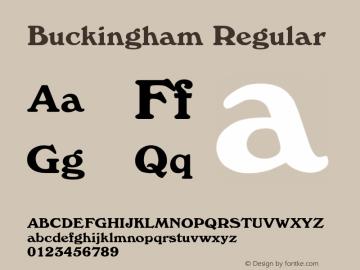 Buckingham Regular Rev. 002.001 Font Sample