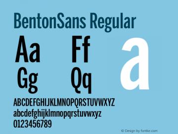 BentonSans Regular Version 1.000;PS 001.000;hotconv 1.0.38 Font Sample