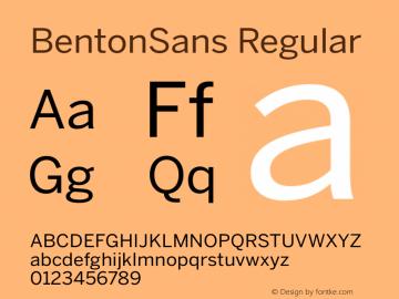 BentonSans Regular Version 1.0 Font Sample