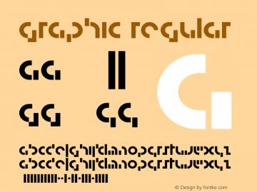 Graphic Regular 001.000 Font Sample