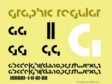 Graphic Regular Version 001.000 Font Sample