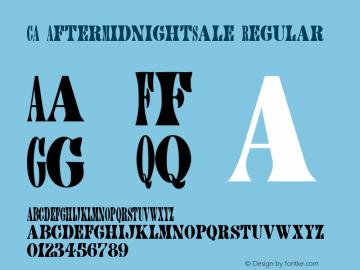 CA AfterMidnightSale Regular Version 1.101;PS 001.001;Core 1.0.38图片样张