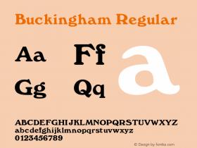 Buckingham Regular Rev. 002.02 Font Sample