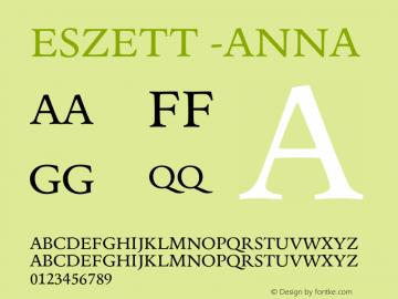 Eszett -Anna Version 1.001图片样张