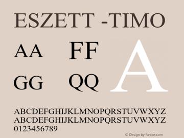 Eszett -Timo Version 1.001图片样张