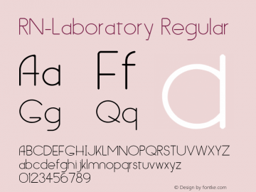 RN-Laboratory Regular Version 1.30 Font Sample