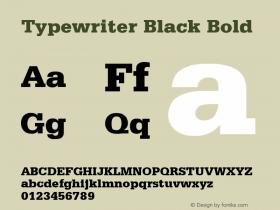Typewriter Black Bold Rev. 002.001 Font Sample