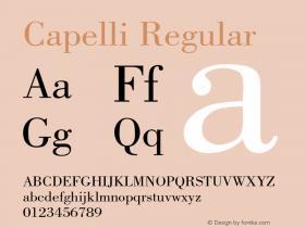 Capelli Regular Rev. 002.001 Font Sample