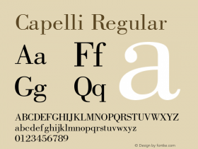 Capelli Regular Rev. 002.02q图片样张