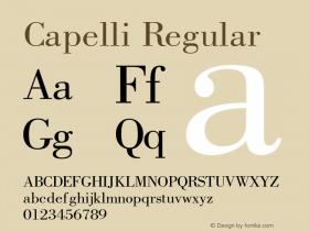 Capelli Regular Rev. 002.02q Font Sample